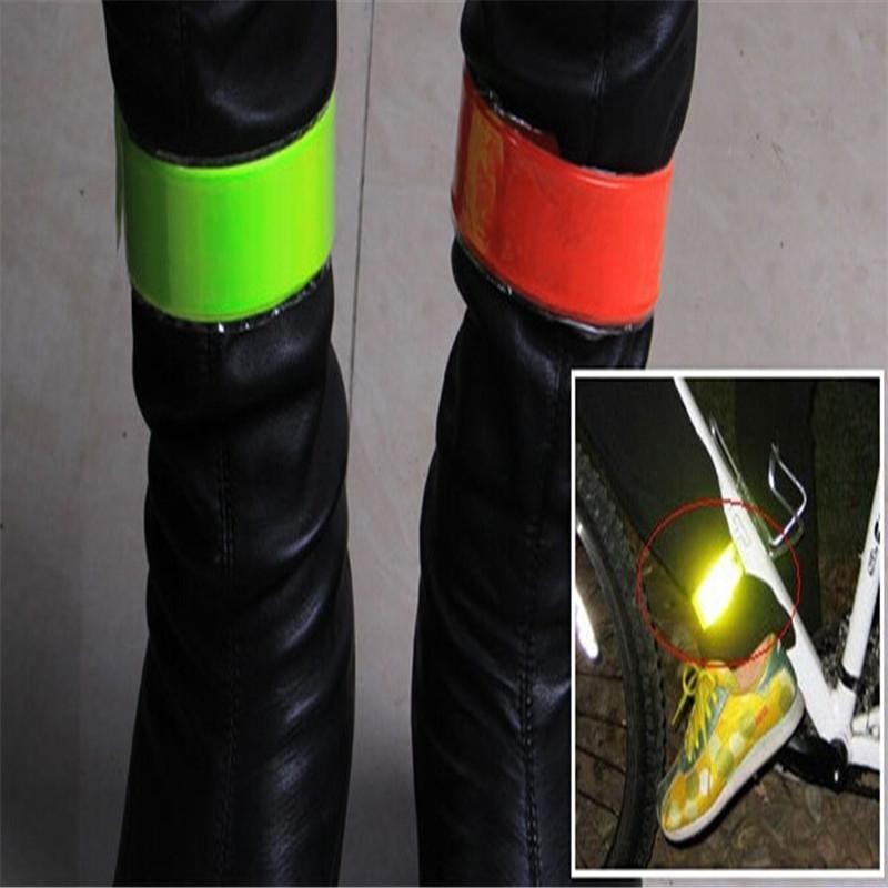 Yansıtıcı Bantları Bacak Kol Askı Bisiklet Bisiklet Güvenlik Pantolon Kemer Bisiklet Koşu Kamp için Glow