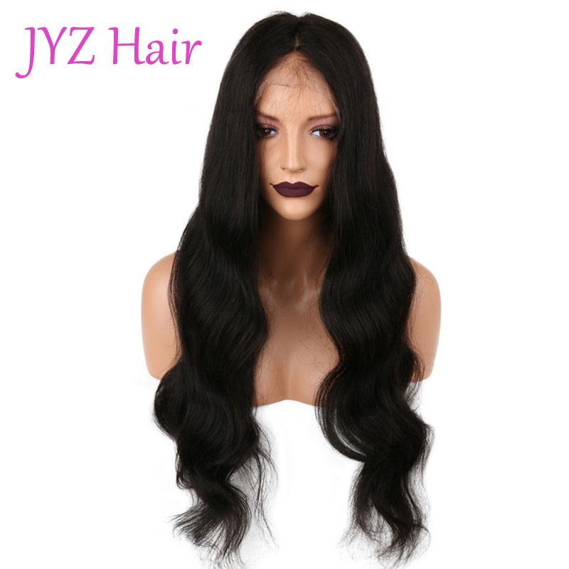 Dentelle avant perruque couleur naturelle lâche vague brésilienne malaisienne vierge de cheveux humains pleine perruque de lacet non transformé prix pas cher pour la vente