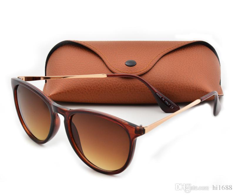 أعلى جودة جديد موضة نظارات للرجل امرأة اريكا نظارات ماركة مصمم النظارات مات ليوبارد التدرج uv400 العدسات مربع و حالات