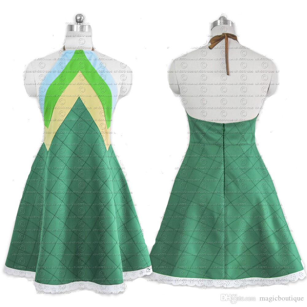 fairy tail wendy marvell cosplay costume anime green dress