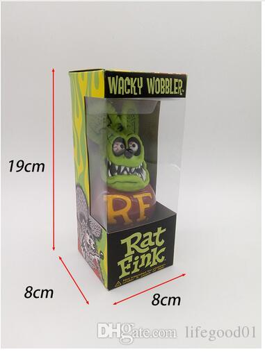 1pcs Quality 11 Color Max Professional Eyeshadow Palette: 2019 High Quality PUNK RF Rat Fink Action Figure Doll 17