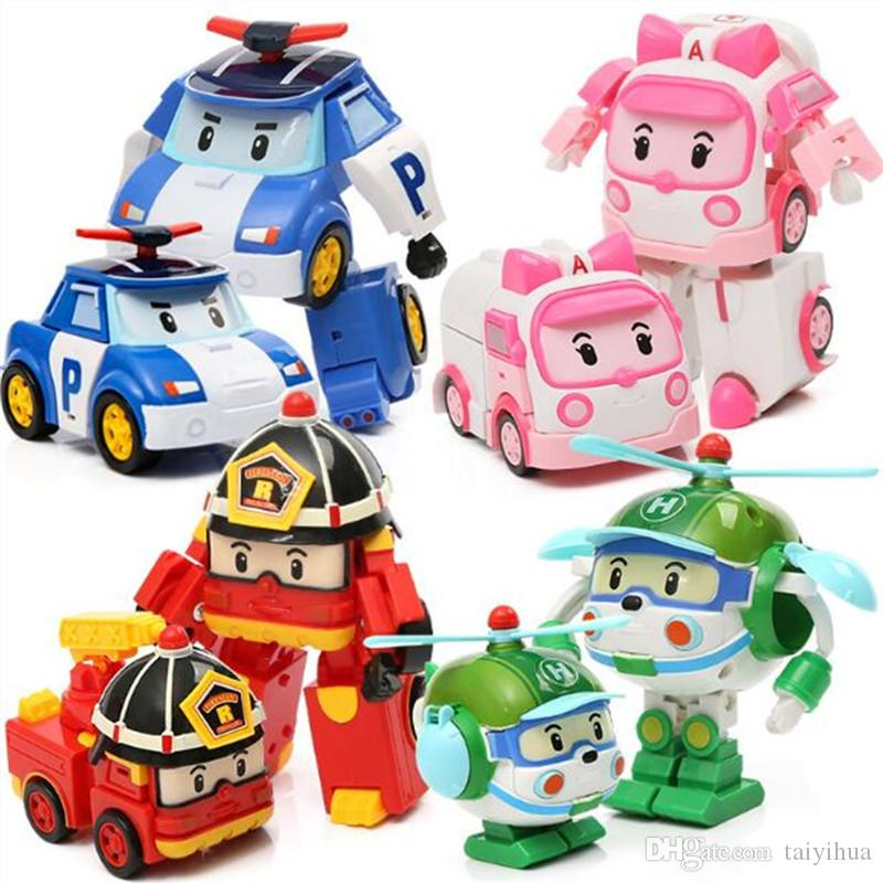 2019 Big Size Children Cartoon Police Car Robocar Poli Toys Robot