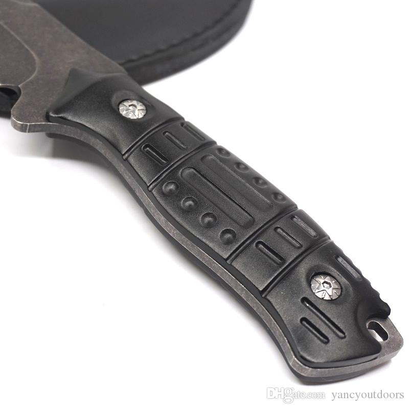 Нож с фиксированным лезвием Охотничий камень Каменный нож с алюминиевой ручкой 5cr13 Стальное лезвие Тактические ножи для выживания Прямой Боуи Инструменты для кемпинга