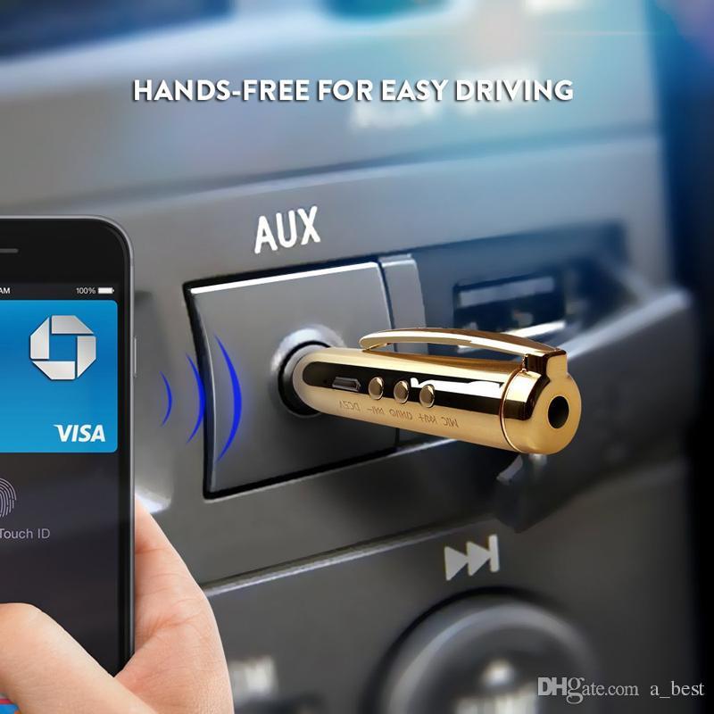 لفون X XS Max بلوتوث اللاسلكية محول الصوت AUX المتلقي القلم مع 3.5 ملم جاك ميني سيارة كيت يدوي كليب على سامسونج S9