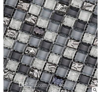 Negozio di piastrelle soggiorno in cucina con cucina a parete in vetro a specchio a mosaico in cristallo a specchio