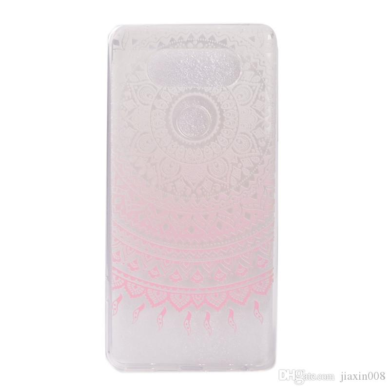 Transparent TPU Cover For LG G6 Case Colour decoration Tower bike Butterfly Girl Design Phone Case