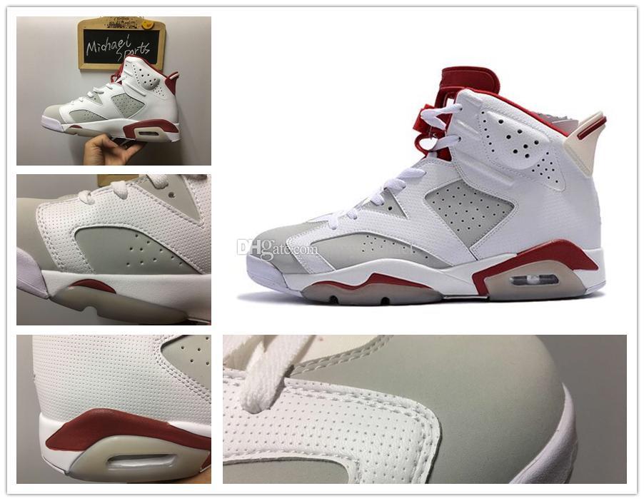 d2af5f3a106030 Retro 6 Alternate Black Infrared Low Chrome Basketball Shoes 2017 Men VI  Low Cut Michael Quality Version US Size 5.5-13 Retro 6 Alternate Alternate  Retro 6 ...