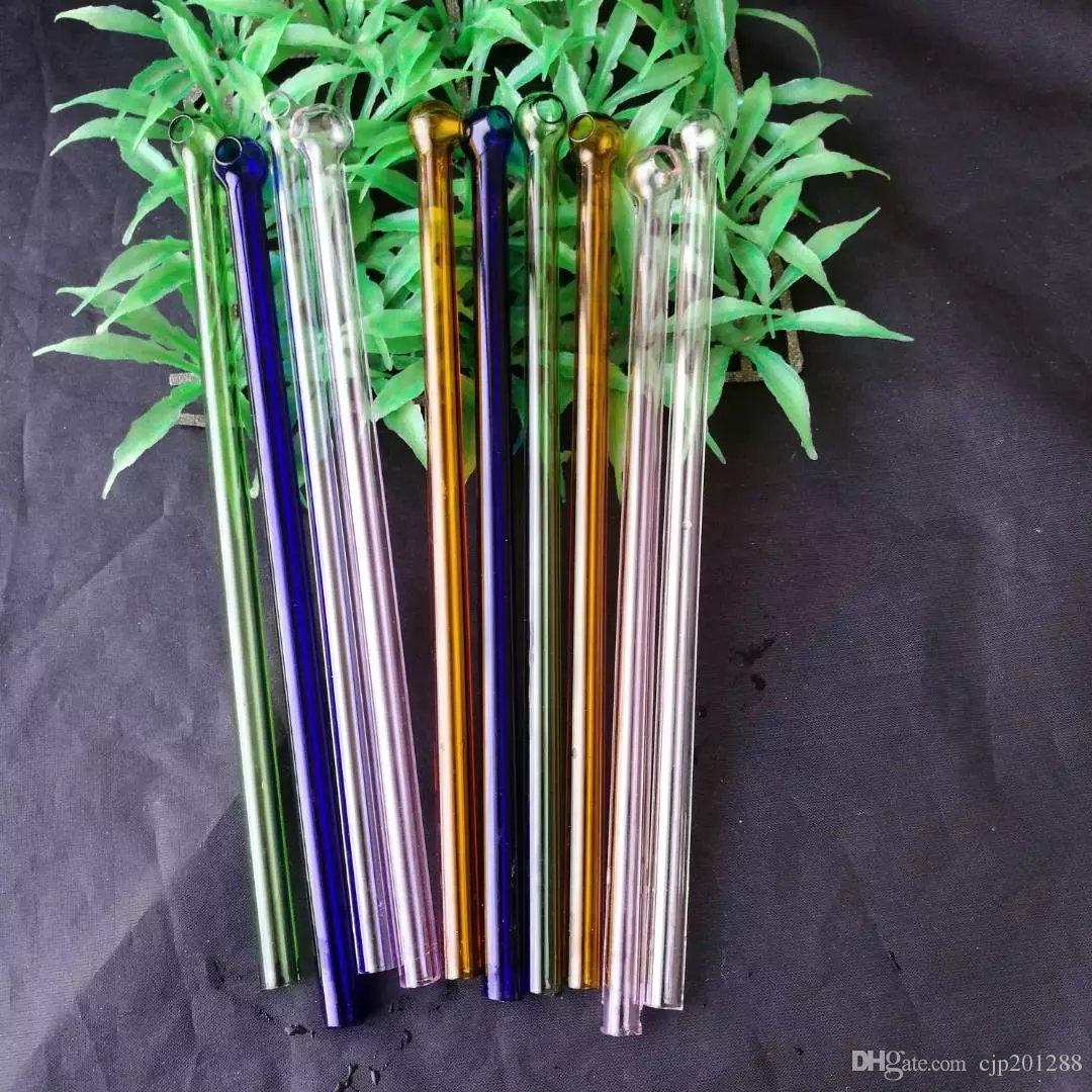 Accessori bong di vetro tondi di vetro, Bruciatori di olio unici Tubi di bong di vetro Tubi d'acqua Rigs di olio tubi di vetro Fumo con contagocce