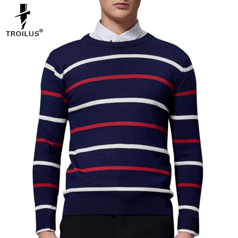 443f8f4c0c 2019 Wholesale Troilus Hot Sale Casual Black White Striped Long Sleeved  Knit Men Slim Sweater Pullovers 2016 Brand Autumn Winter Male Sweaters From  ...