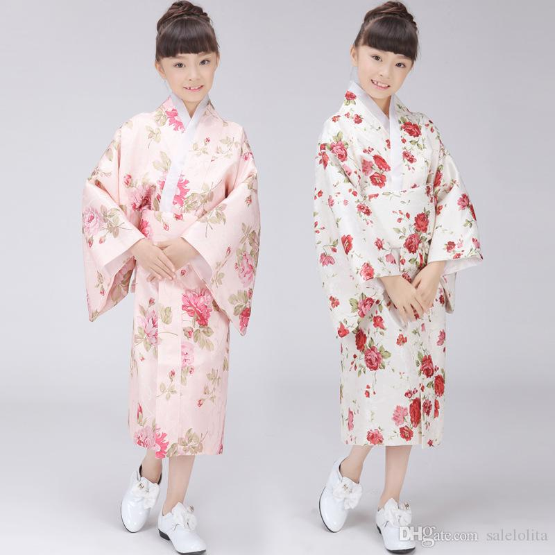 Floral Printed Kids Japanese Kimono Clothing Children Yukata Traditional Kimonos Girls Bathrobe Japanese Ancient Dress Clothes Halloween Costumes For Kids ...  sc 1 st  DHgate.com & Floral Printed Kids Japanese Kimono Clothing Children Yukata ...
