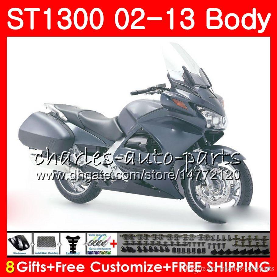 HONDA STX1300 ST1300 Pan Avrupa Kitleri için parlak blk 07 08 09 10 11 12 13 93NO28 ST-1300 ST 1300 2007 2008 2009 2010 2011 2012 2013 Fairing