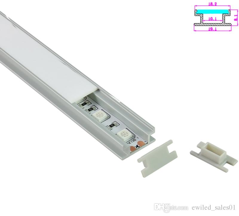 10 X 1M setsAl6063 T6 H type aluminium profile for led strips and alu profile led for flooring or ground lamps