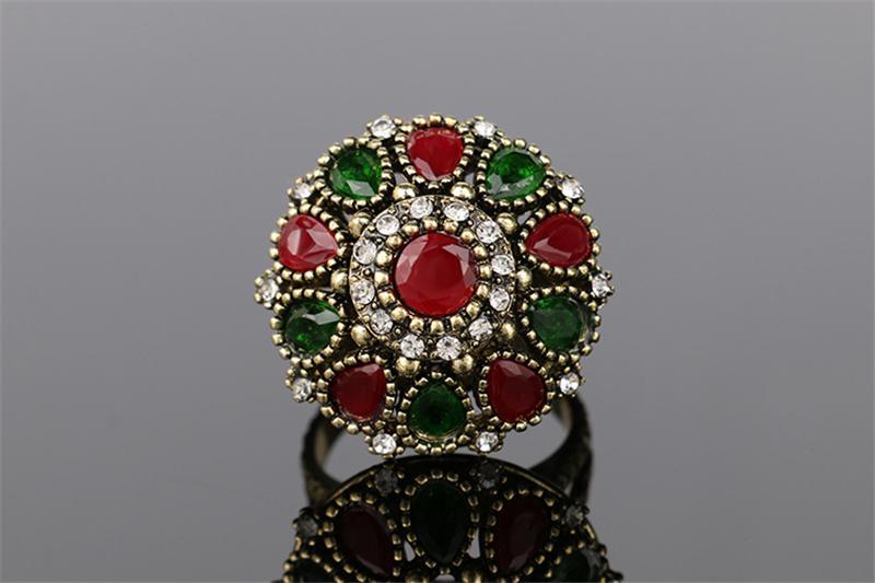 3 pezzi vestito turco gioielli Colorfull pietra orecchini e collana le donne Nigerian Wedding Afran Beads Jewelry Set Crystal