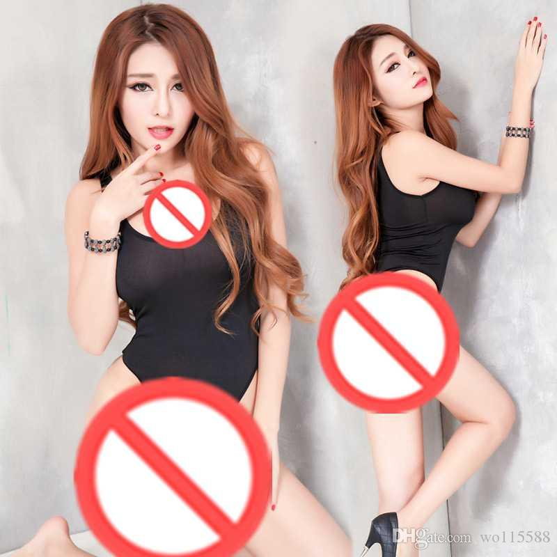 5e5deb08a 2019 New Sexy Lingerie Cosplay Net Yarn Sexy Open Back Open File Elastic  Tight Body Piece Clothing Adult Lingerie Pajamas Can Be Wh From Wo115588