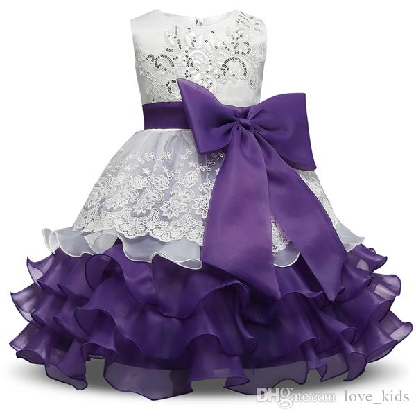 2017 summer girls party dress sleeveless tutu dresses kids gown baby prom dress with big bow and sequins baby girl's lace dress