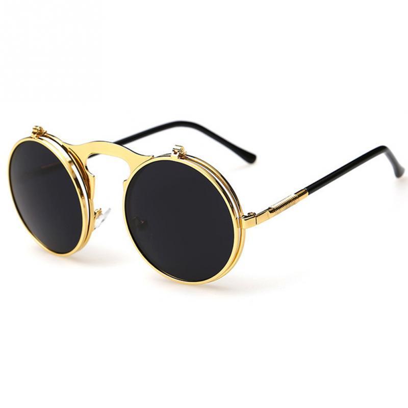 2016 Oculos Retro Redondas Sunglass Vintage Glasses Gafas Diseñador Punk Steampunk Metal Circle Sun Hombres Nuevo Sol Mujeres De Steam ygYfb76
