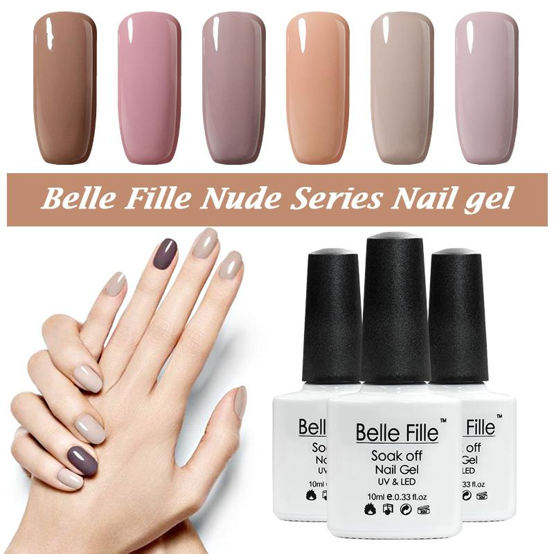 Wholesale Belle Fille Nude Gel Nail Polish Beige Flesh Varnish Nail ...
