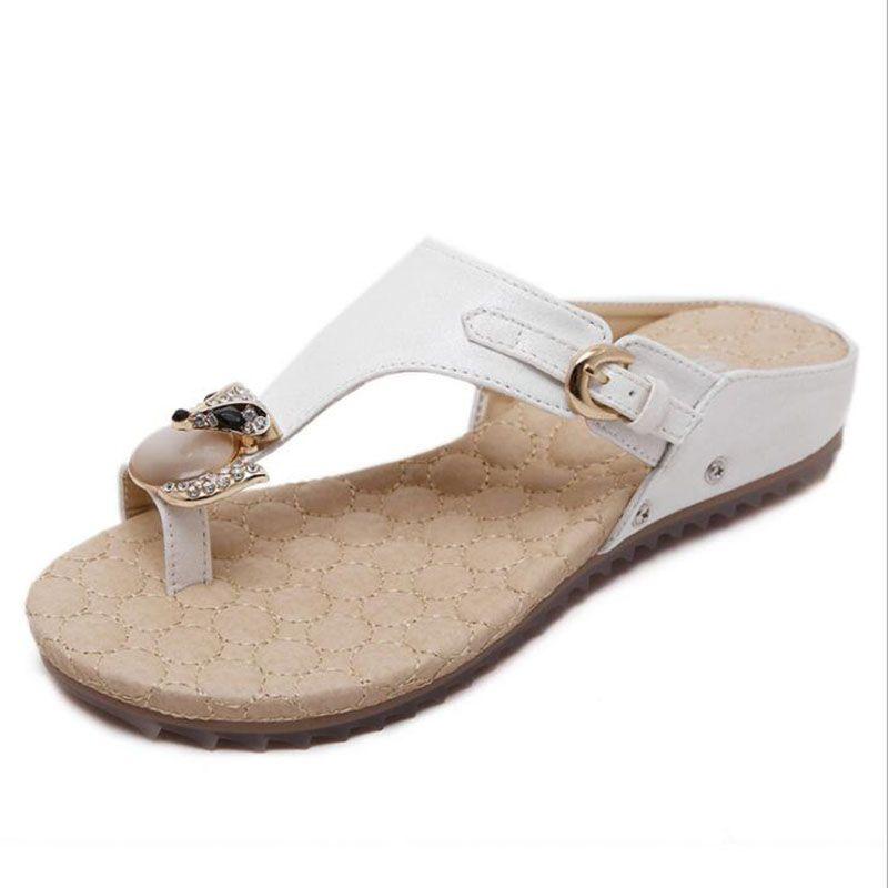 6215e7c91e37d Women Flip Flops Crystal Seaside Breathable Stylish Comfortable Beach Summer  Women Slippers Shoes Pasoataques Brand 325-8 Flip Flop Sandals for Women  Summer ...