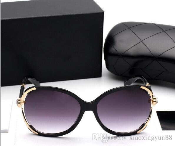 Novel Goggle Outdoor brands designer Eyewear Sunglasses lady women black shades Fashion Retro with original Zipper case