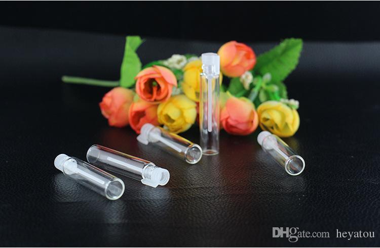 1ml 2ML 3ML mini fiala di profumo di vetro, profumo Fiala di campione liquido, bottiglia del tester Tubo spray vuoto Bottiglie riutilizzabili