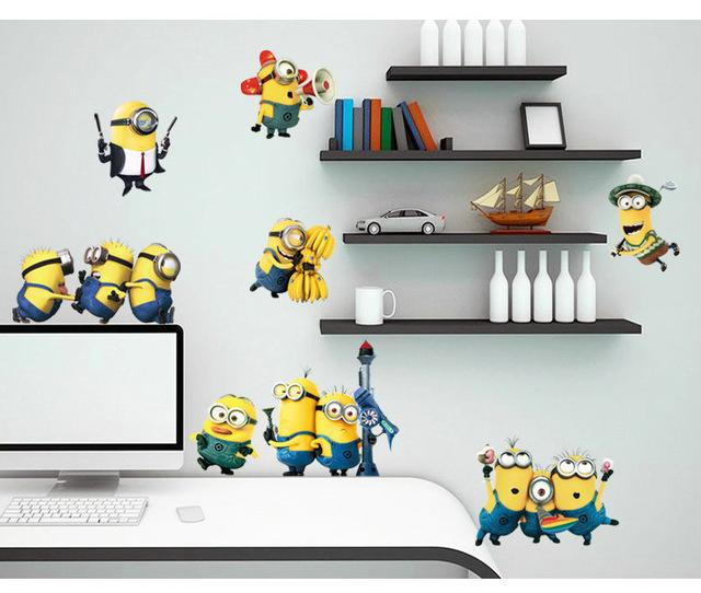U0026Amp; Cartoon Minions Wall Stickers Decal Kids Room Nursery Bedroom Switch  Car Wardrobe Refrige Home Decor Vinyl 3d Wallpaper Poster Create Wall Decals  ... Part 63