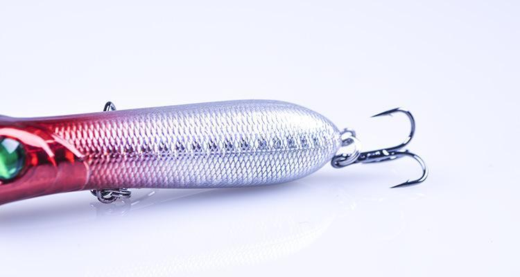 NEW Floating wobbler Laser popper poper fishing lures hooks 8.4cm 12.5g Floating surface Crankbait ABS plastic simulation hard Baits