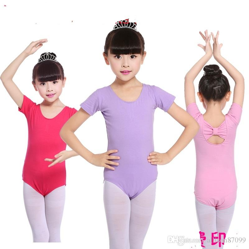 d91ae1de0 2019 Leotard For Girl Ballet Bodysuit Children Girls Dancewear Back ...