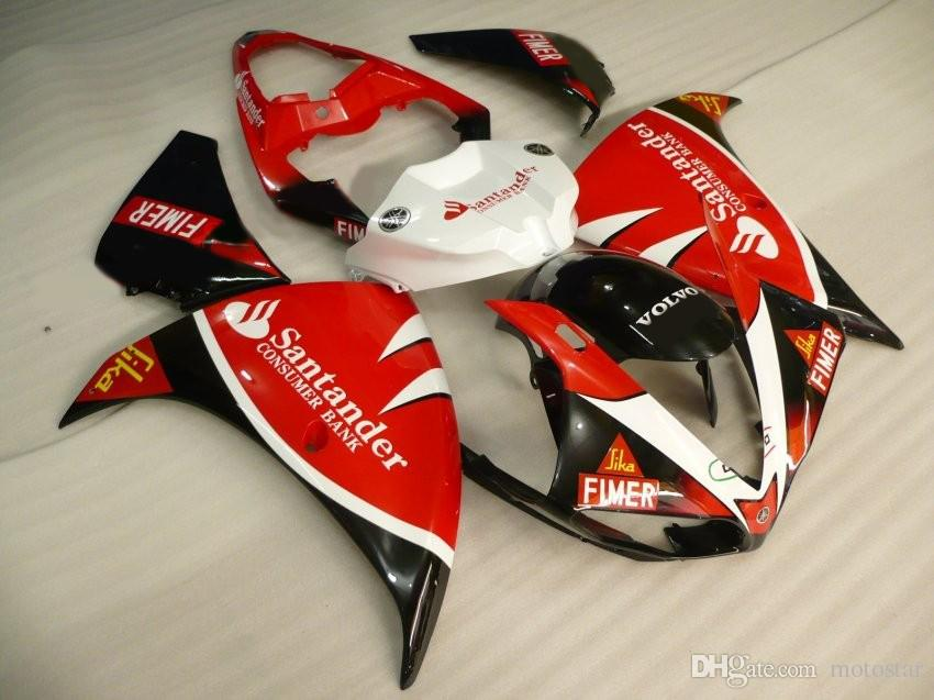 Injection mold plastic fairing kit for Yamaha YZF R1 09 10 11-14 red black fairings set YZF R1 2009-2014 OY08
