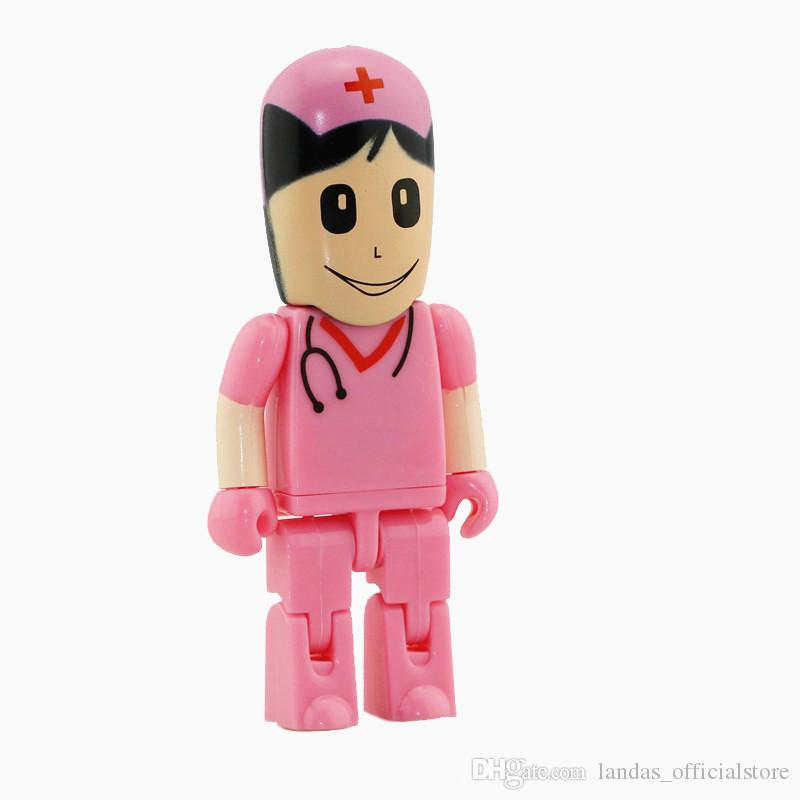 Doctor Nurse Series USB 2.0 Flash Memory Stick Pen Drive 4G 8GB 16GB 32GB dentist USB Flash Drives U dick customized flash drives
