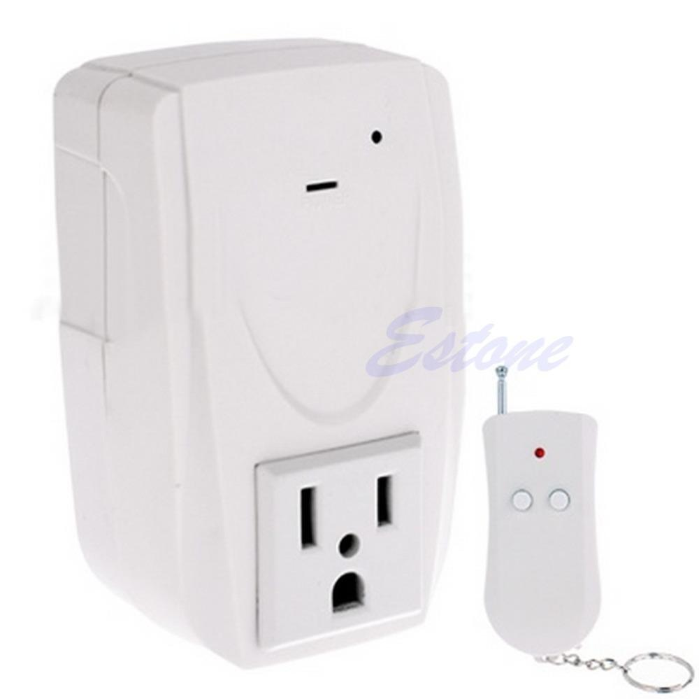 Wholesale- US Plug Digital Wireless Remote Control Power System Outlet Socket Switch 110V