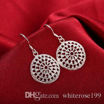 도매 - 최저 가격 크리스마스 선물 925 스털링 실버 패션 귀걸이 yE112