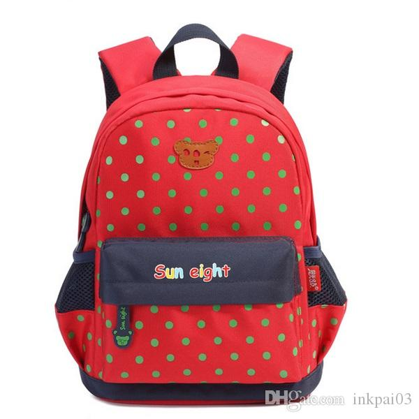 34961b241e5d Sunny Eight Clock Kindergarten Primary School Kids Backpacks Children School  Book Bags in Blue Red Color Dot for 2-6 Years Old Boy Girl Kids Backpack  School ...