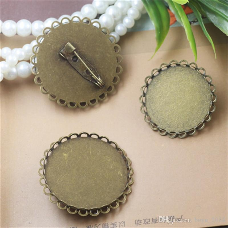 556059116 2019 BOYUTE Round 25mm 30mm Cabochon Base Brooch Blanks Wholesale Diy Brooch  Pins Jewelry Findings & Components From Boyu_2014, $4.65 | DHgate.Com