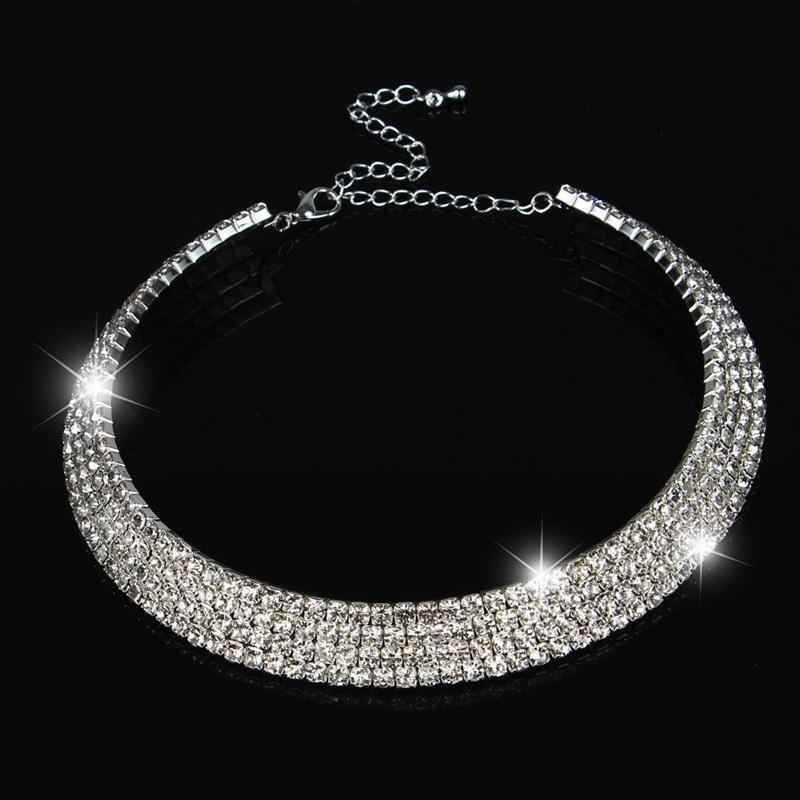 2019 Wedding Choker Necklace Women Stunning Full Diamond Crystal