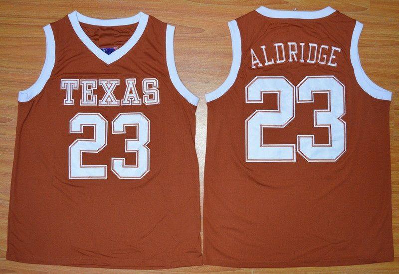 Texas Longhorns Kevin Durant 35 Lamarcus Aldridge 23 Mohamed Bamba 4 College Баскетбол Дневные Дуб-Хилл Вышата сшитая Джерси