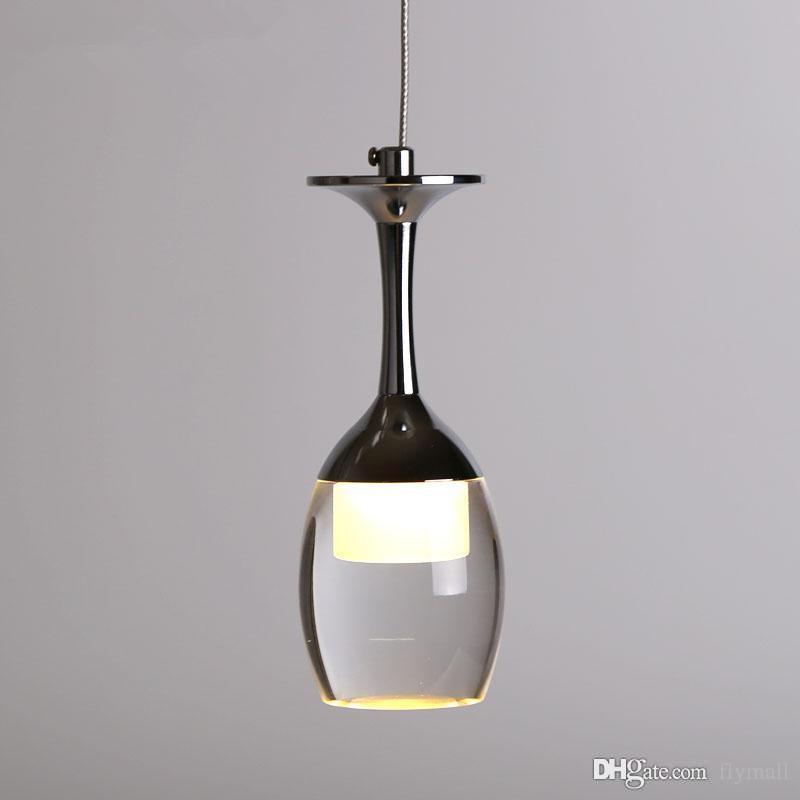 ece76ccd7d40 Indoor Lighting Acrylic Led Pendant Lamp Bar Dining Room Lamp LED Light  Chandeliers 3w Wine Glass Shape Creative Brief Lamp Christmas Lights  Pendant Drum ...