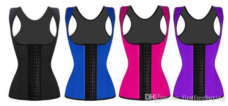 Women Sweating Waist Training Cincher 3 Rows Buckle Underbust Slimming Corset Shapewear Body Sculpting Vest Modeling Clothing