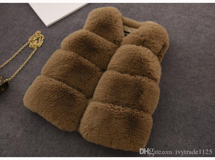 Kinder Mädchen Winter Warme Weste Mädchen Pelz Weste Mantel Winter Kinder Outwear Baby Kinder Mädchen Jacke Weste 5 Farbe Größe 70-160cm