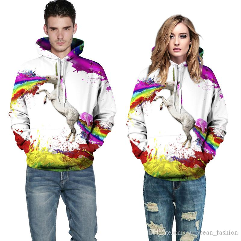 Causal hoodies for men fashion 3D sweatshirt 2017 designer unisex Graffiti Print Long Sleeve Hoodie Plus Size Sports hoody sweatshirt