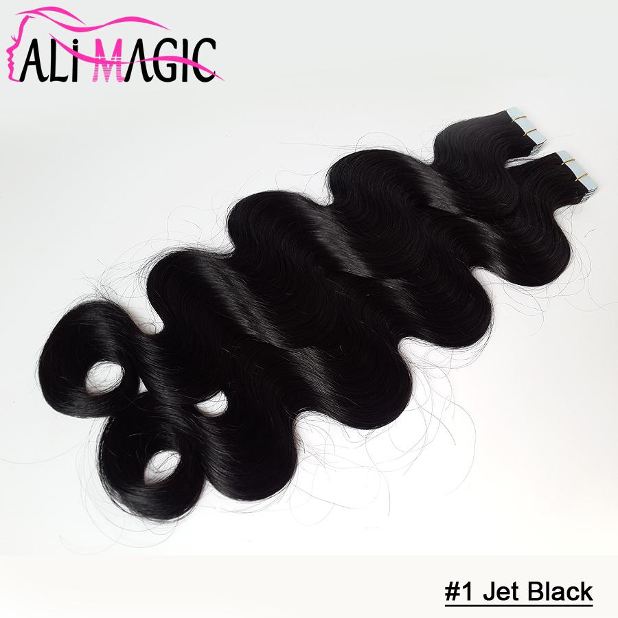 High Quality 9A Hot Selling Brazilian Virgin Hair Body Wave Pu Skin Weft Tape Human Hair Extensions 18''20''22''24''inch Ali Magic Wholesale