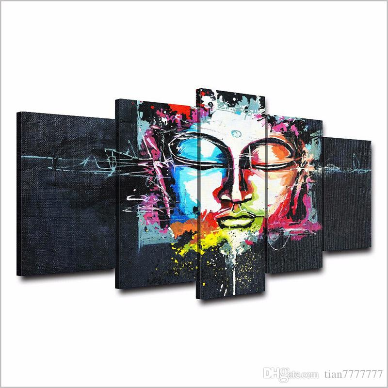 New abstract Buddha Canvas Painting Unframed HD Printed Modern Art Picture Home Wall decor
