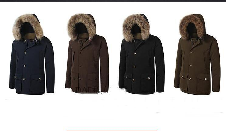 Hot sale new style brand WL men pocket thickening warm coats overcoat XS-XL