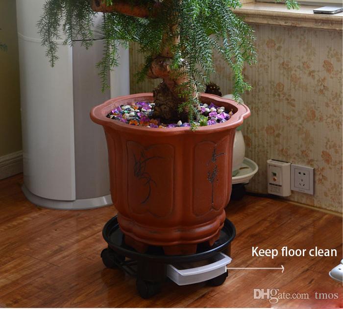 Venda quente Planta Dolly com Rodas e Rodízio Receiver Recipiente Bandeja Palete Moving Flower Pot Pires Suporte em sua Casa e Jardim