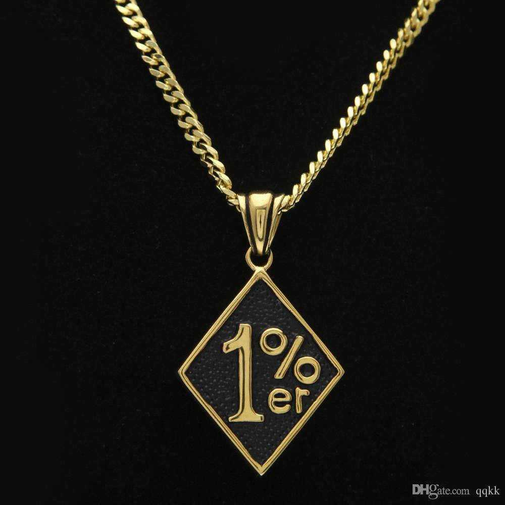 Wholesale Mens Necklaces 18k Gold Plated 1 Dog Tag Personalized