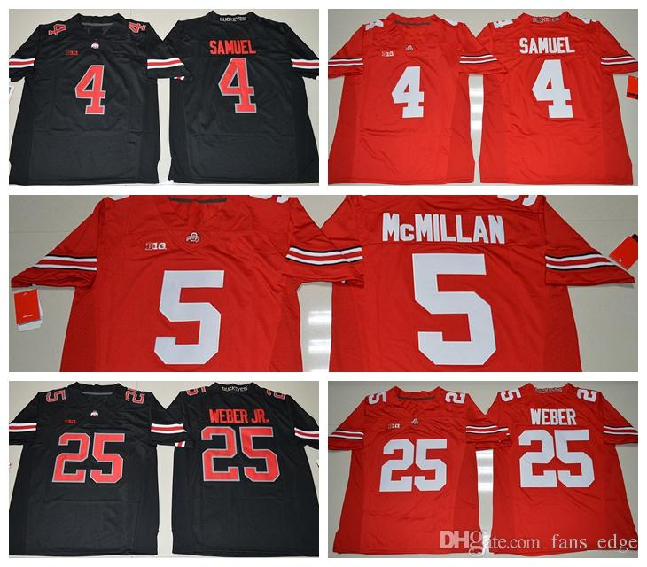new product e1435 3b714 Cheap New NCAA Ohio State Buckeyes 4 Curtis Samuel College football jerseys  5 Raekwon McMillan 25 Mike Weber Jersey