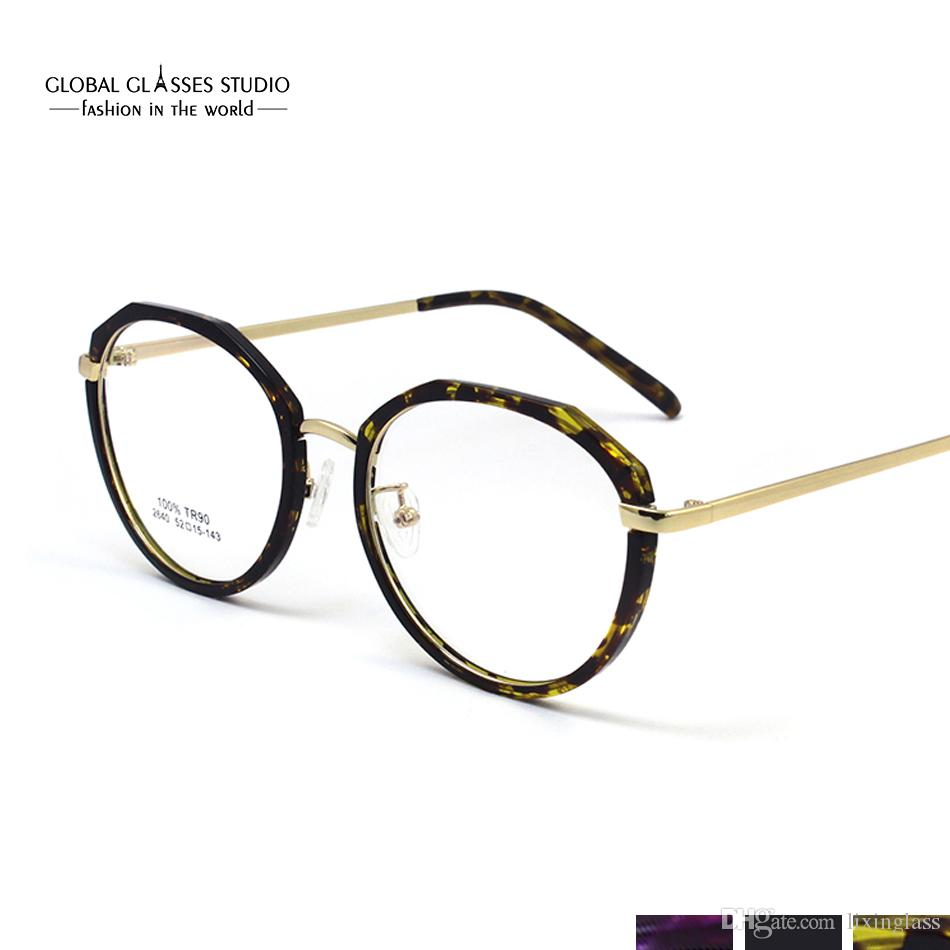 b0abfd3568 Latest Trend Retro Round Glasses Frame Ultra-Light Metal Frame Reading  Glasses Prescription Eyeglasses 2640 Eyewear Fashion TR Online with   14.38 Piece on ...