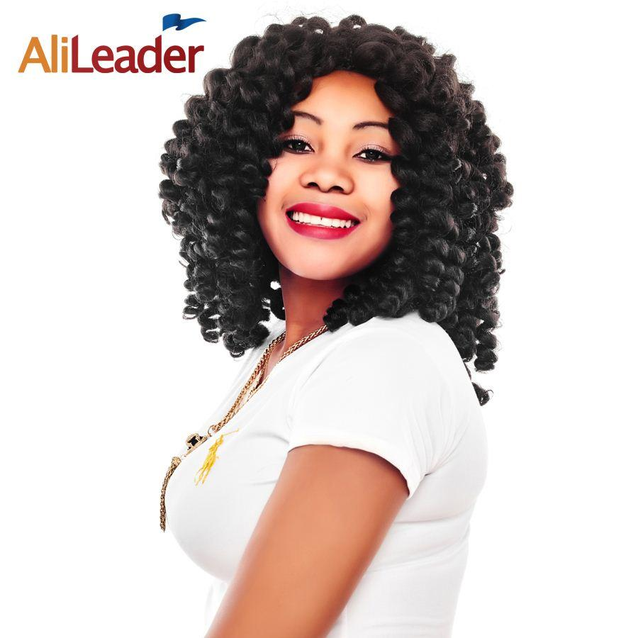 Wholesale alileader short jamaican bounce wand curl black blonde wholesale alileader short jamaican bounce wand curl black blonde brown wine red freetress crochet braid synthetic curly hair extensions 8 inch brazilian pmusecretfo Choice Image