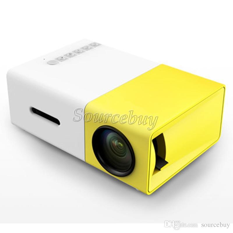 جديد وصول البسيطة العارض YG300 شاشة كبيرة التصميم المبتكر الصمام الخفيفة الوسائط المتعددة AV HDMI نظام التبريد المحمولة مسرح الجيب Proyector