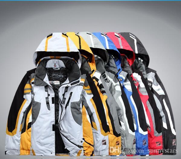 Wholesale-Outdoor Sportwear Ski Jacke Männer Skianzug winddicht wasserdicht Ski Bekleidung Kostenloser Versand