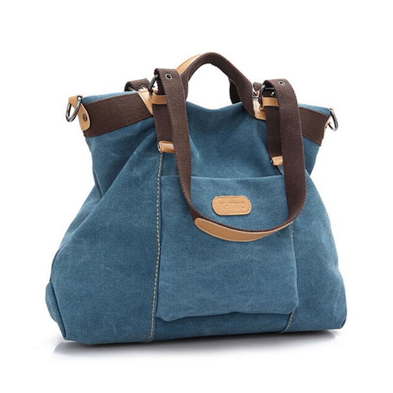 Wholesale-Hot Women Canvas Handbag Casual Girl H Bag Fashion Large ... bac1139e71bef